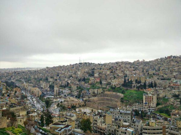 vista sulla città di amman giordania