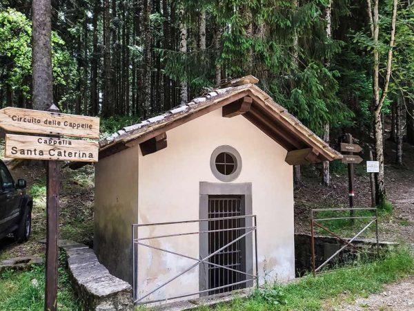 cappella di santa caterina accanto al bosco a vallombrosa