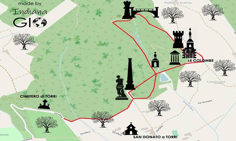 mappa del parco ragnaia a compiobbi