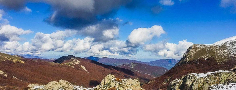 vista sulle montagne in val di luce